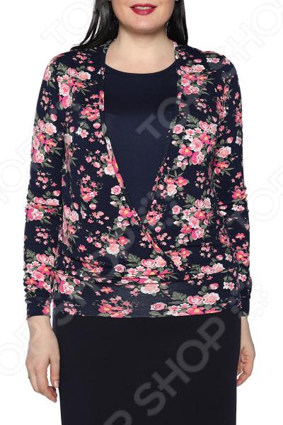 Блуза Ивассорти «Оджи». Цвет: темно-синий
