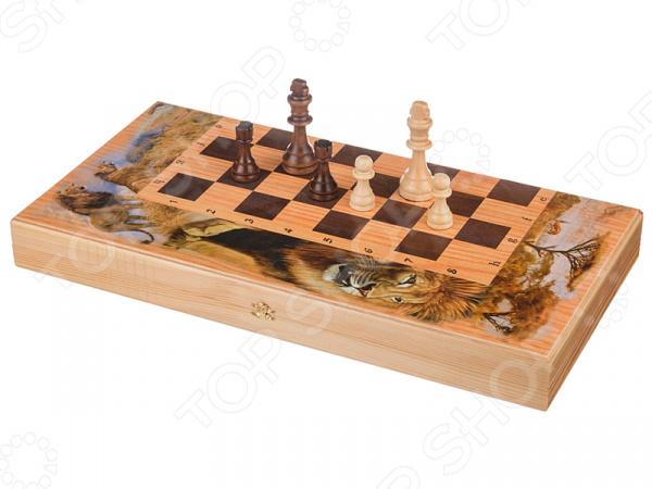 Набор для игры в шахматы, шашки и нарды «Сафари» 28-336