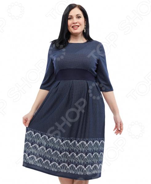 Платье Wisell «Невероятная встреча». Цвет: синий
