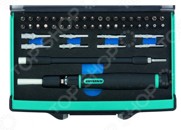 Отвертка для точных работ с битами и торцевыми головками GROSS 11599  отвертка pz3x150 мм gross 12163