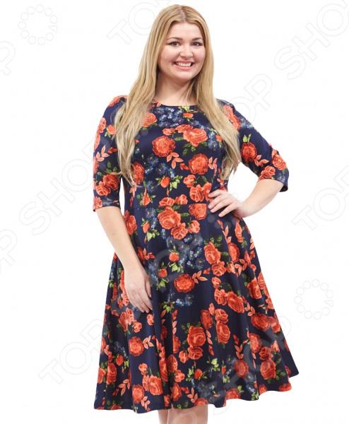 Платье СВМ-ПРИНТ «Вена». Цвет: красный  свм принт марьяна цвет красный