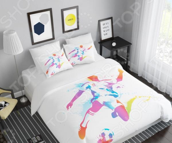 цена Комплект постельного белья Сирень «Футболист» онлайн в 2017 году