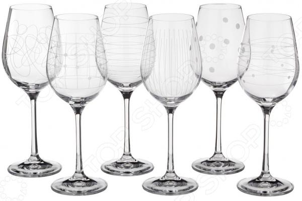 Набор бокалов для вина Bohemia Crystal «Виола» 674-321 набор бокалов crystalex виола оптика 6шт 190мл шампанское с