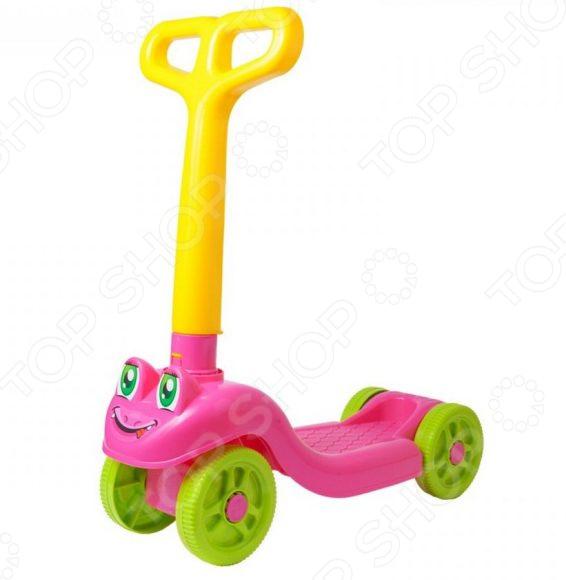 Самокат четырехколесный ТехноК для малышей Самокат четырехколесный ТехноК 3657 /Розовый