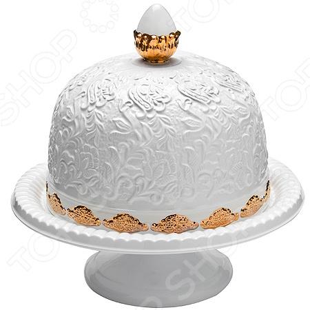 лучшая цена Ваза для торта с крышкой 202