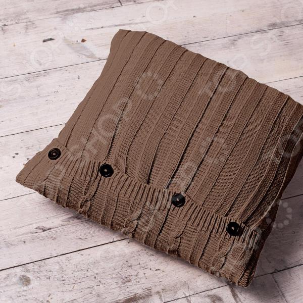 Подушка декоративная Unison Sherlock. Цвет: кофейный цена