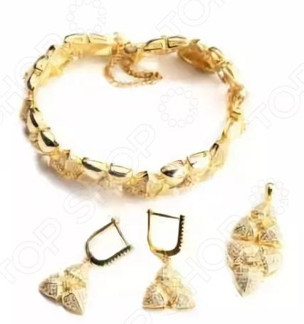 Комплект: подвеска, серьги и браслет Bradex «Золото богов»