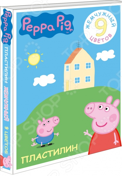 Набор пластилина Peppa Pig жемчужный «Свинка Пеппа» peppa pig пластилин свинка пеппа 12 цветов