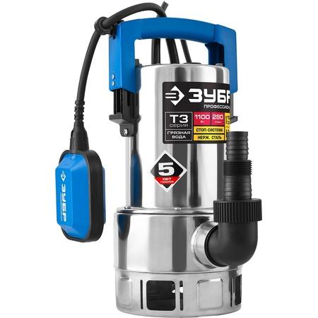 Купить Насос погружной дренажный для грязной воды Зубр «Профессионал» НПГ-Т3-1100-С