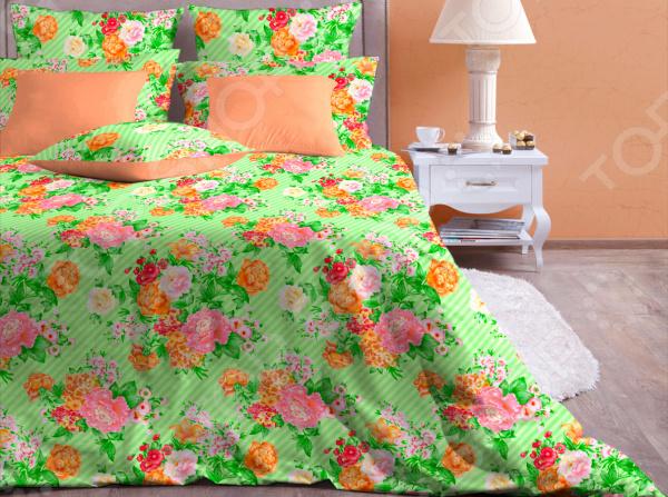 Комплект постельного белья Хлопковый Край «Сады Челси». Цвет: салатовый