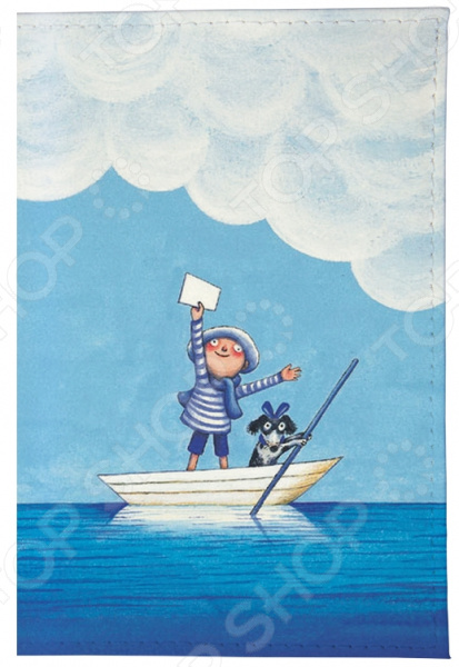 Обложка для автодокументов Mitya Veselkov «Мальчик и собака в лодке» mitya veselkov будка в лондоне