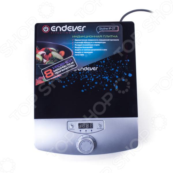 Плита настольная индукционная Endever Skyline IP-27 электрическая плита endever ip 28 закаленное стекло индукционная черный [80033]