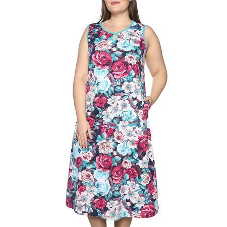 Купить Платье Алтекс «Солнечное тепло». Цвет: голубой, красный
