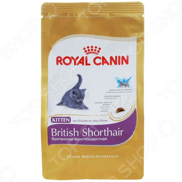 Корм сухой для британских короткошерстных котят Royal Canin Kitten British Shorthair
