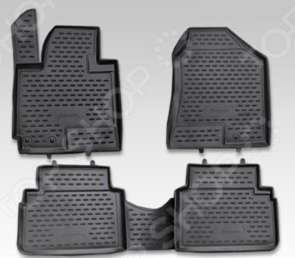 Комплект ковриков в салон автомобиля Novline-Autofamily Hyundai ix35 2010 комплект 3d ковриков в салон автомобиля novline autofamily volkswagen touareg 2010 2015 2015