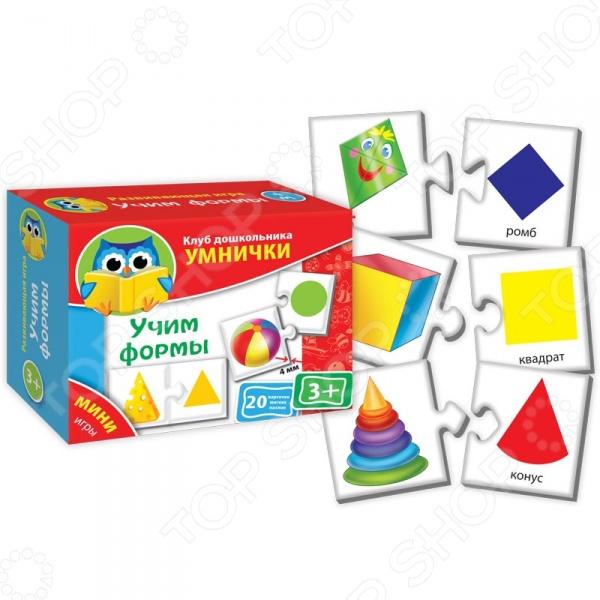 Игра настольная развивающая для детей Vladi Toys «Учим формы»