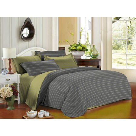 Купить Комплект постельного белья La Noche Del Amor А-543. 1,5-спальный. Цвет: серый, оливковый