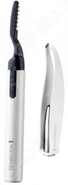Прибор для подкручивания ресниц Remington EC300 Reveal это простой и удобный аксессуар, который можно использовать в домашних условиях. Эта электроплойка сделает реснички приподнятыми и красиво завитыми, а ваш взгляд выразительным.  Преимущества прибора  Мобильность. Элетроплойка имеет вид тюбика для туши и легко помещается в сумочке.  Безопасен. Не выдергивает ресницы и не обжигает веки.  Эффект от процедуры держится в течении всего дня.  На процесс закручивания уходит не больше 15 мин.  Встроенная LED подсветка оповестит о готовности прибора.  Не вызывает аллергических реакций. В комплекте: косметические щипчики, батарейка ААА, защитный чехол.