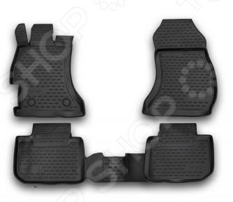 Комплект ковриков в салон автомобиля Novline-Autofamily Subaru XV 2012 комплект 3d ковриков в салон автомобиля novline autofamily ford mondeo 2015