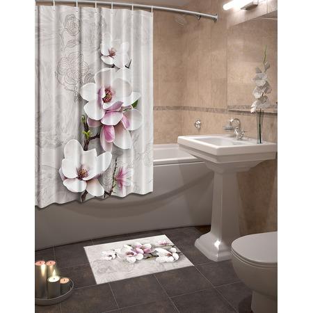 Купить Набор для ванной комнаты: шторка и коврик ТамиТекс «Бушерон»