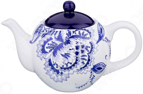 Чайник заварочный Agness «Гжель» 358-1040