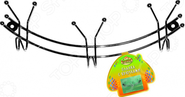 Планка с крючками Мультидом «Дуга» AN52-23 крючки настенные мультидом планка 5 крючками ромашка