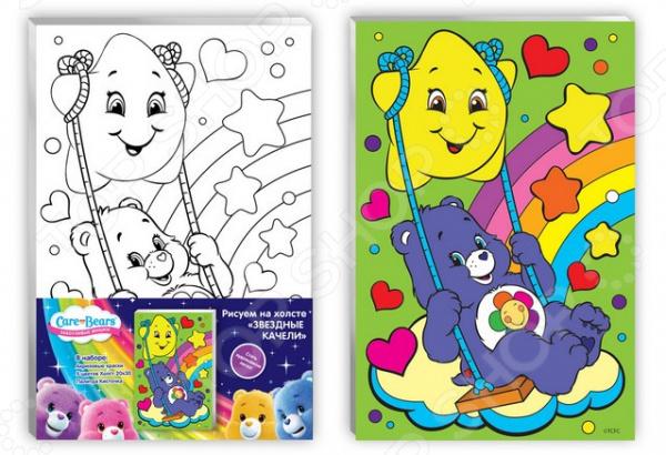 Набор для росписи по холсту Care Bears «Звездные качели»