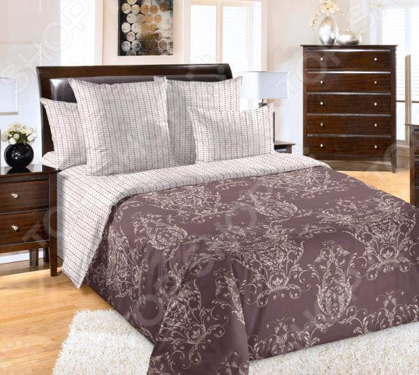 Комплект постельного белья ТексДизайн «Эпоха». Цвет: коричневый