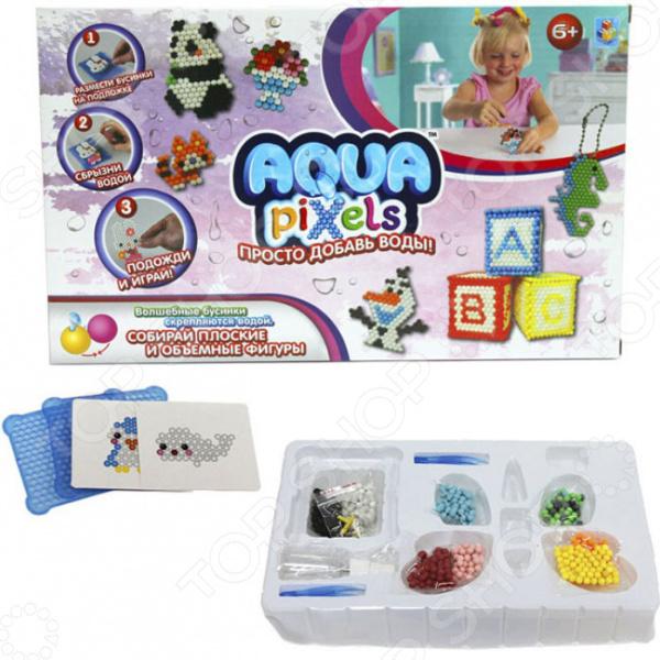 Набор для детского творчества 1 Toy Aqua pixels «Веселые животные»