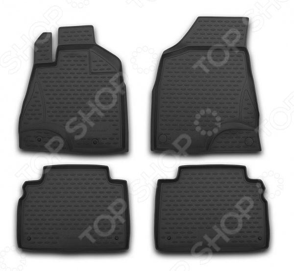 Комплект ковриков в салон автомобиля Novline-Autofamily Opel Combo 2001 4 накладка на задний бампер opel vivaro 2001