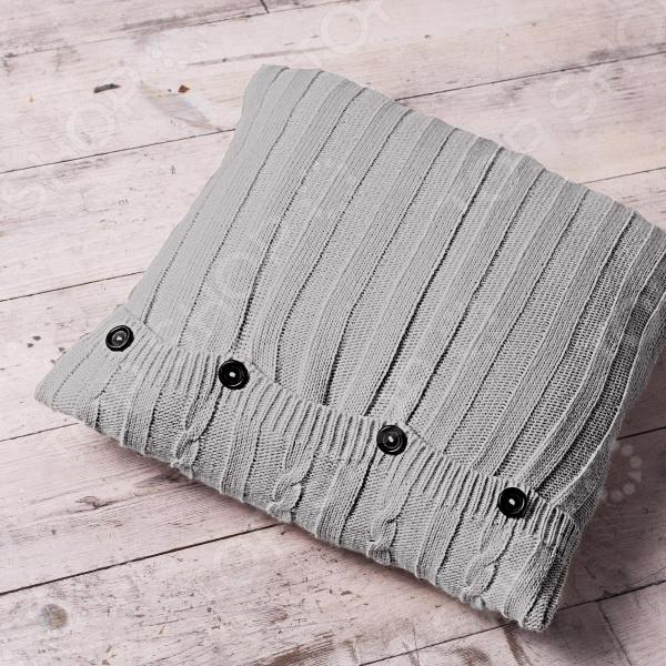 Подушка декоративная Unison Sherlock. Цвет: светло-серый цена