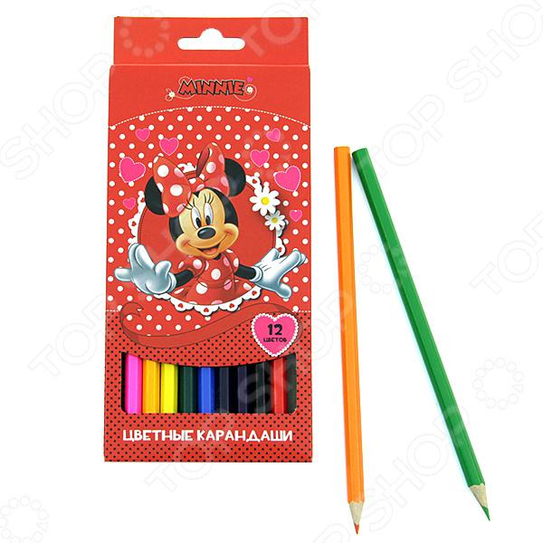 Набор цветных карандашей Disney «Минни»: 12 цветов
