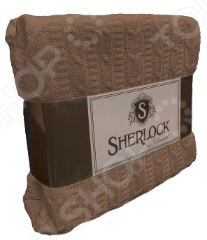 Плед вязаный Unison Sherlock. Цвет: кофейный unison