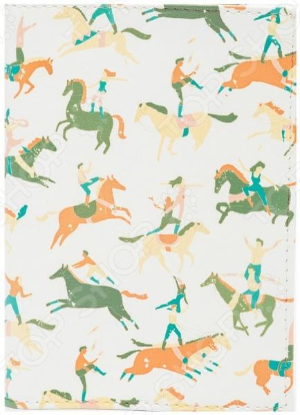 Обложка для паспорта кожаная Mitya Veselkov «Цирковые лошади» обложка для автодокументов кожаная mitya veselkov гагарин