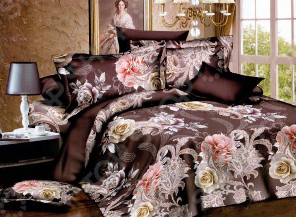 Комплект постельного белья «Шоколадная страсть». Евро
