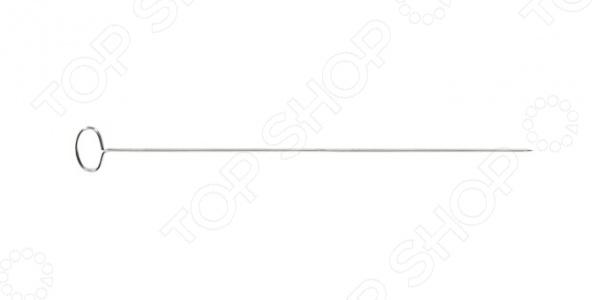 Набор шампуров-шпажек с круглым кольцом Tescoma Presto можно использовать для приготовления домашних шашлычков или для скрепления рулетов. Шпажки изготовлены из высококачественной нержавеющей стали, они устойчивы к повышенным температурам и воздействию влаги. Этот набор поможет сделать процесс приготовления блюд гораздо более удобным, а результат порадует вас и гостей своей эстетичностью и красотой, ведь мини-шашлыки на праздничном столе смотрятся просто превосходно. А компактный размер изделия и специальное колечко помогут наслаждаться мясом, не снимая его со шпажки. В комплекте 6 шампуров.
