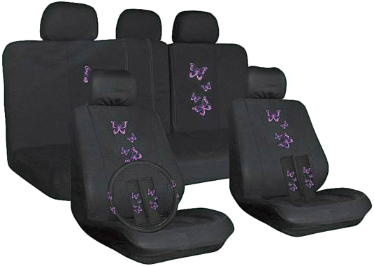 Набор чехлов для сидений SKYWAY Forsage «Бабочки» S01301146