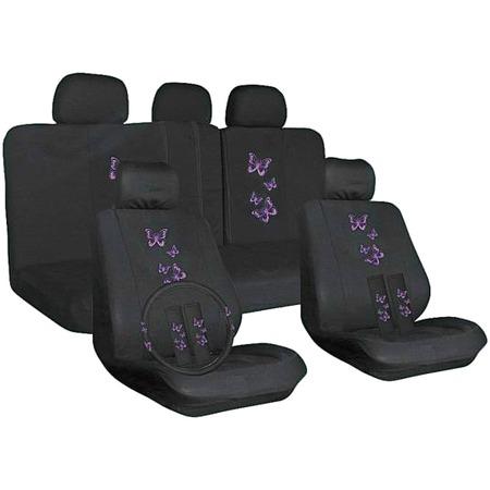 Купить Набор чехлов для сидений SKYWAY Forsage «Бабочки» S01301146