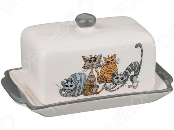 Масленка Lefard «Озорные коты» 188-102 масленки альтернатива масленка горошек бело крас