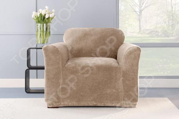 Чехол на кресло Медежда «Бруклин» чехол на мебель медежда чехол на стул с юбкой иден коричневый