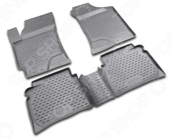 Комплект ковриков в салон автомобиля Novline-Autofamily Hyundai Elantra 2007 tda16888 dip
