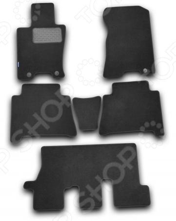 Комплект ковриков в салон автомобиля Novline-Autofamily Kia Mohave 2009. Цвет: черный комплект ковриков в салон автомобиля novline autofamily kia rio 2011 цвет бежевый