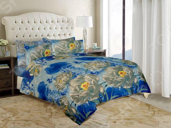 Комплект постельного белья «Весна». 1,5-спальный. Рисунок: хрустальный цветок