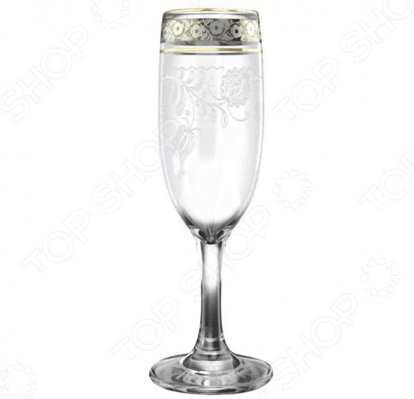 Набор бокалов для шампанского Гусь Хрустальный «Нежность» набор бокалов для бренди гусь хрустальный нежность 410 мл 6 шт