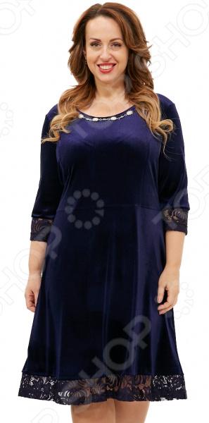 Платье Лауме-Лайн «Бархатная нимфа». Цвет: темно-синий