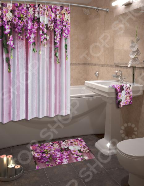 Zakazat.ru: Набор для ванной комнаты: шторка и коврик ТамиТекс «Изобилие»