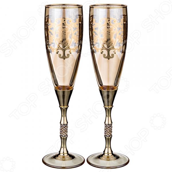 Набор бокалов для шампанского ART DECOR «Позитано» набор бокалов crystalex джина б декора 6шт 210мл шампанское стекло