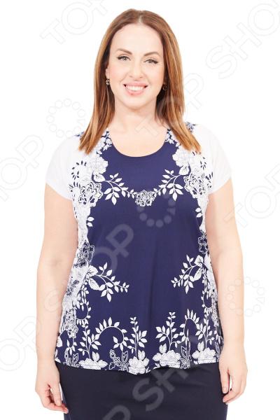 Туника Pretty Woman «Лепестки». Цвет: синий, белый