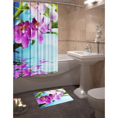 Купить Набор для ванной комнаты: шторка и коврик ТамиТекс «Донна»