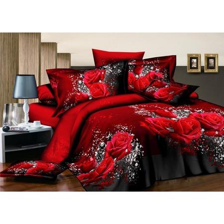 Купить Комплект постельного белья «Аромат цветов». 2-спальный. Рисунок: красные розы